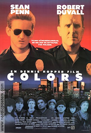 Colors Poster 1988 Sean Penn Original