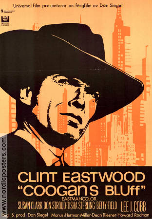 Coogan´s Bluff 1968 poster Clint Eastwood Don Siegel