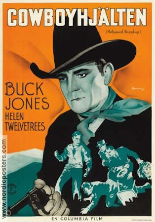 Hollywood Round-up 1937 poster Buck Jones