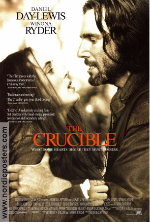 The Crucible 1997 poster Daniel Day-Lewis