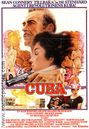 Cuba 1980 Movie poster Sean Connery Richard Lester
