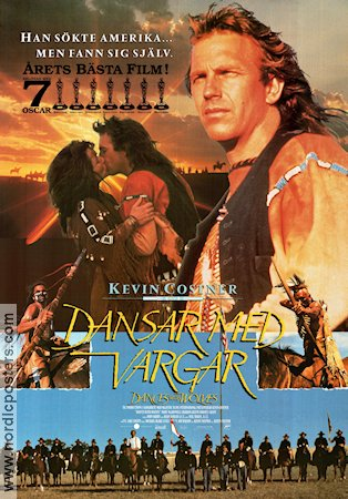 Dances with Wolves 1990 poster Mary McDonnell Kevin Costner
