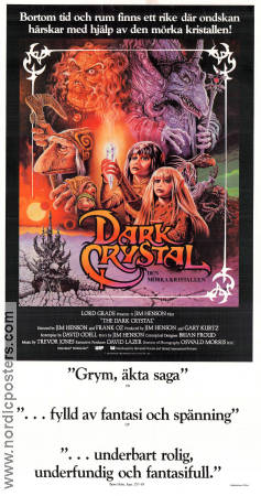 The Dark Crystal 1982 Movie poster Kathryn Mullen Jim Henson