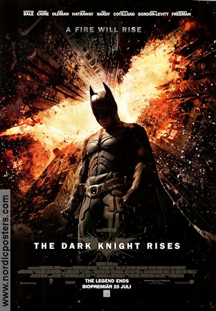 The Dark Knight Rises 2012 poster Christian Bale Christopher Nolan