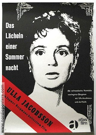 Smiles of a Summer Night 1956 Movie poster Ulla Jacobsson Ingmar Bergman