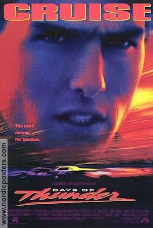 Days of Thunder 1990 Movie poster Tom Cruise