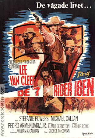 De 7 rider igen 1972 Movie poster Lee Van Cleef
