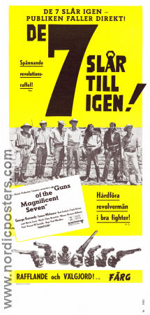 Guns of the Magnificent Seven 1969 poster George Kennedy Paul Wendkos