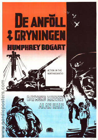 Action in the North Atlantic 1943 movie poster Humphrey Bogart