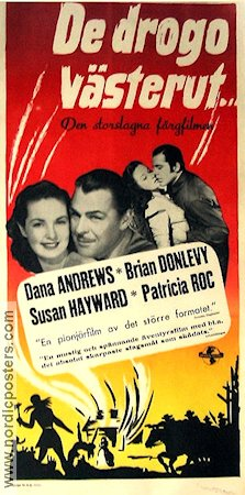 Canyon Passage 1946 poster Dana Andrews