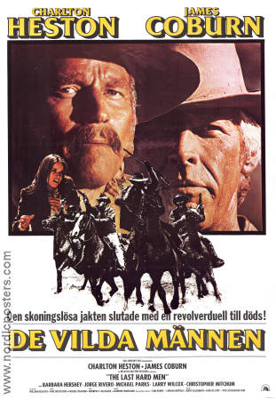 The Last Hard Men 1977 poster Charlton Heston