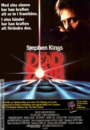 The Dead Zone 1983 Movie poster Christopher Walken David Cronenberg