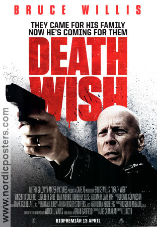 Death Wish 2018 poster Bruce Willis Eli Roth