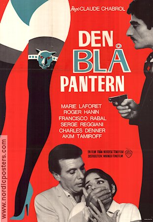 Marie-Chantal contre Kah 1965 poster Marie Laforet Claude Chabrol