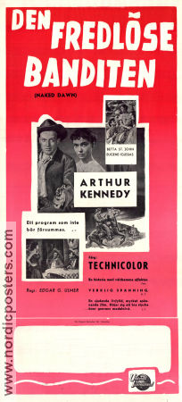 The Naked Dawn 1955 poster Arthur Kennedy
