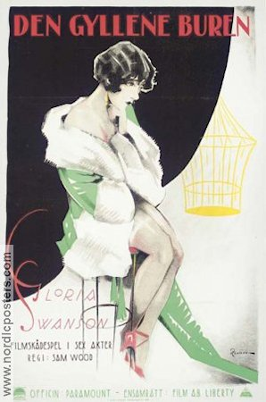 Her Gilded Cage 1922 Movie poster Gloria Swanson