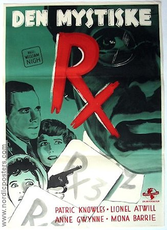 Strange Case of Doctor RX 1942 poster Patric Knowles