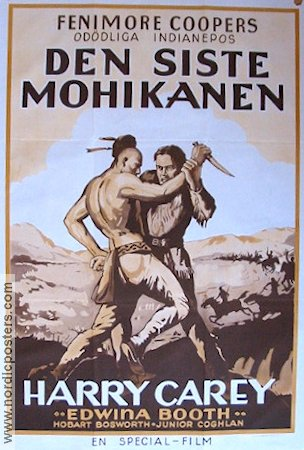 The Last of the Mohicans 1932 poster Harry Carey