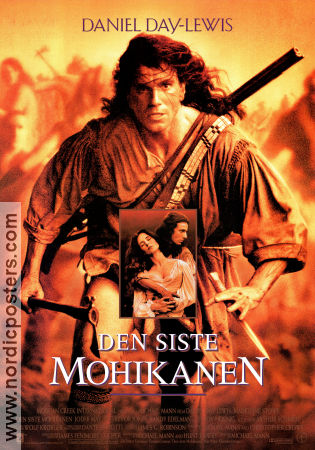 The Last of the Mohicans 1992 poster Daniel Day-Lewis Michael Mann