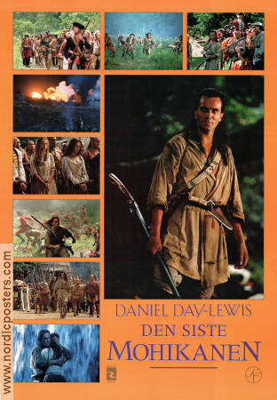 The Last of the Mohicans 1992 Movie poster Daniel Day-Lewis