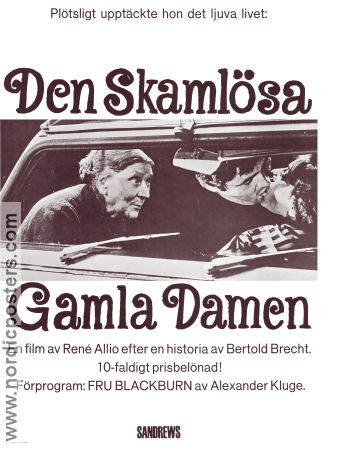 Den skaml�sa gamla damen 1968 Movie poster Ren� Allio