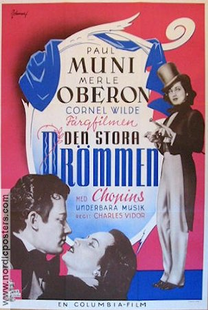 A Song to Remember 1945 poster Paul Muni