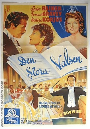 The Great Waltz 1939 Movie poster Luise Rainer