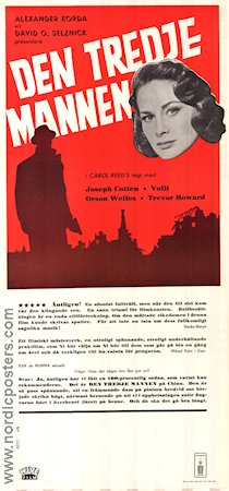 The Third Man 1949 Movie poster Orson Welles Carol Reed