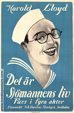 A Sailor-Made Man 1924 poster Harold Lloyd Fred C Newmeyer