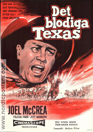 Det blodiga Texas 1959 Movie poster Joel McCrea