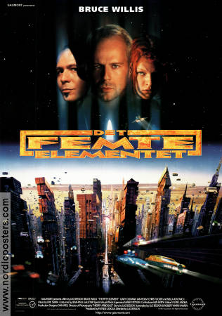 The Fifth Element 1997 poster Bruce Willis Luc Besson