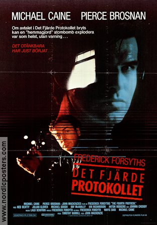 The Fourth Protocol 1987 poster Michael Caine