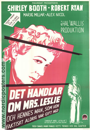 About Mrs Leslie 1954 poster Shirley Booth Daniel Mann