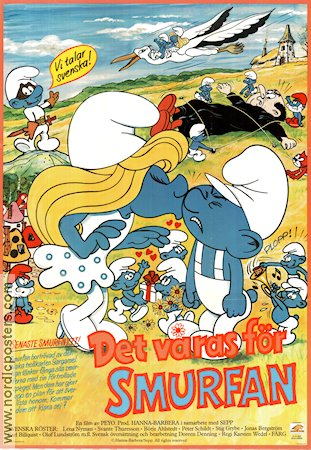 The Smurfs 1983 poster Smurferna Ray Patterson