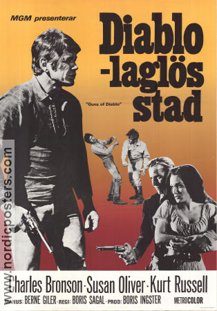 Guns of Diablo 1971 poster Charles Bronson Boris Sagal