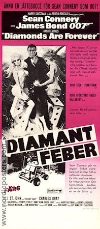 Diamonds Are Forever 1971 poster Sean Connery