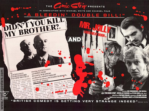 Didn´t You Kill My Brother? 1988 poster Alexei Sayle