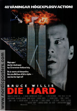 Die Hard 1988 poster Bruce Willis