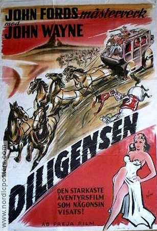 Stagecoach 1939 Movie poster John Wayne John Ford