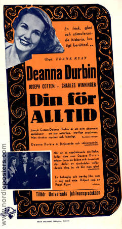 Hers To Hold 1943 poster Deanna Durbin Frank Ryan