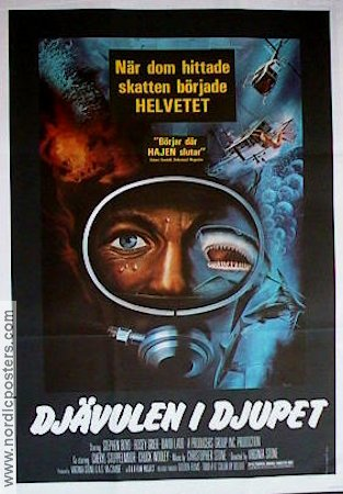 Evil in the Deep 1977 Movie poster Stephen Boyd