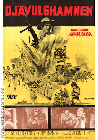 Massacre Harbor 1969 poster Christopher George