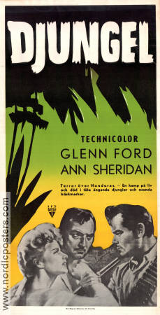 Appointment in Honduras 1953 Movie poster Glenn Ford