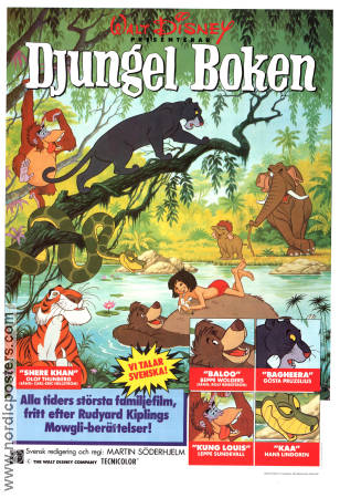 The Jungle Book 1967 poster Phil Harris Wolfgang Reitherman