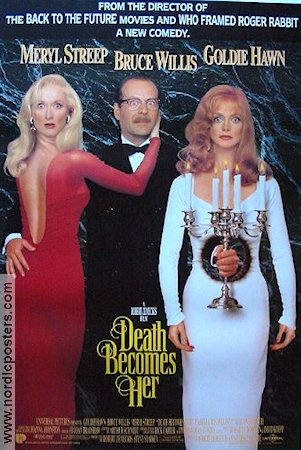 Death Becomes Her 1992 Movie poster Goldie Hawn Robert Zemeckis