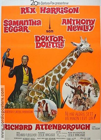 Doctor Dolittle 1967 Movie poster Rex Harrison