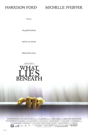 What Lies Beneath 2000 Movie poster Harrison Ford Robert Zemeckis