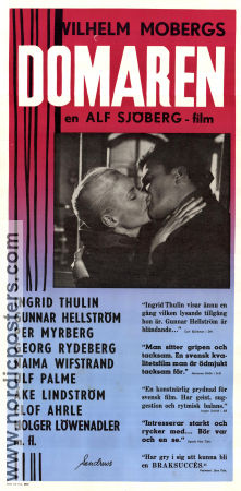 Domaren 1960 Movie poster Ingrid Thulin Alf Sj�berg