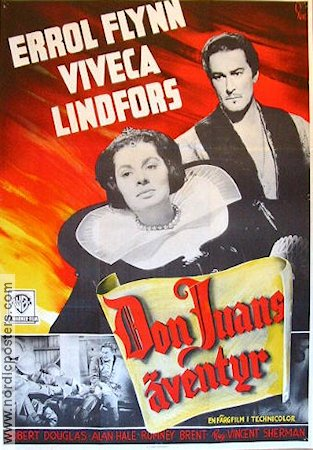 The Adventures of Don Juan 1949 Movie poster Errol Flynn
