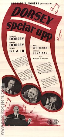 The Fabulous Dorseys 1947 poster Tommy Dorsey